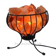 Соляная лампа в форме корзины фото
