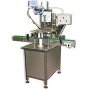 Укупорочный автомат для винтовой пробки сложной конфигурации на ПЭТ бутылки емкостью 0,33-2л фото