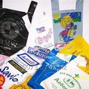 """Пакет ПНД, типа """"майка"""" с рисунком/логотипом заказчика. фото"""