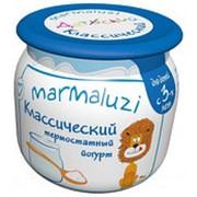 Йогурт MARMALUZI классический термостатный 2,5%, 125г фото
