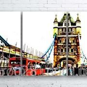 Модульна картина на полотні Лондонський Тауер Брідж код КМ100180-078 фото