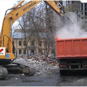Уборка и вывоз строительного мусора от 10-30тон фото