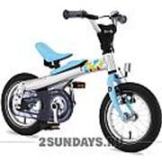 Беговел-велосипед 2в1 Rennrad 12 дюймов синий фото