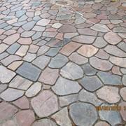 Плитка из гранита для мощения тротуарных дорожек фото