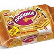 Пирожное Любимое бисквитное со вкусом апельсина, Рот Фронт, 210 гр. фото