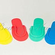Тапки одноразовые (цветные) 1пара фото