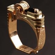Золотое кольцо Зажигалка с фианитом. фото
