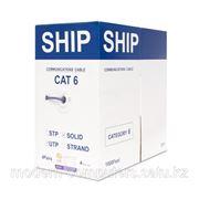 Кабель сетевой, SHIP, D165A-L, Cat.6, UTP, 4x2x1/0.574мм, LSZH, 305 м/б (Огнеупорный, При горении не выделяет дыма) фото