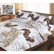 """Комплект постельного белья (2-х спальный) """"соната"""" (пододеяльник-200х210см., простыня-230х250см., наволочка-2шт. 50х70см.) (сатин набивной-100% хлопок фото"""