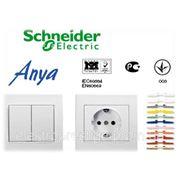 Розетки и выключатели Schneider Electric серии Anya фото
