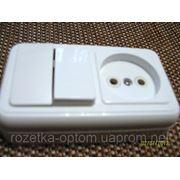 Блок наружный двойной выключатель и розетка фото