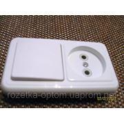 Блок внутренний одинарный выключатель и розетка фото