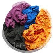Ветошь цветная трикотажная (лоскут 40*60) 10кг фото