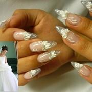 Наращивание свадебных ногтей фото Киев.Свадебный маникюр фото. фото
