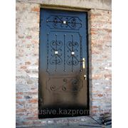 Кованая металлическая дверь фото