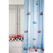 Детские шторы TAC Cars Цвет: Голубой (200x265 см.) фото