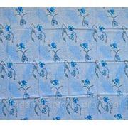 Ткань постельная Донецкий ситец Цепи голубые на синем фото