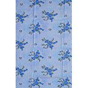 Ткань постельная Яблоневый цвет голубой фото
