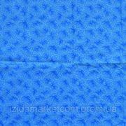 Ткань постельная Зима синяя фото