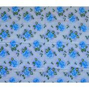 Ткань постельная Большая синяя роза фото