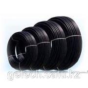 Труба ПНД (полиэтилен низкого давления, чёрная) для прокладки кабеля фото