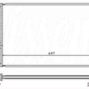 Радиатор охлаждения Skoda Octavia / VW Bora, Golf IV, Seat Leon - D7W001TT / NRF 509529A / NIS 652011 фото