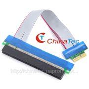 PCI-E 1X to 16X шлейф-удлинитель для видеокарты фото
