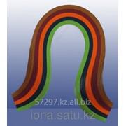 Бумага набор №29 130гр., 300мм., 150 полос, 5 цветов зелено-ораньжевый микс фото