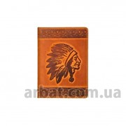 Обложка для паспорта Indian Кожа рыжий фото