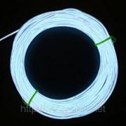 Холодный неон / электролюминисцетный провод 2-го поколения 1,4 мм, белый (розница, опт) фото