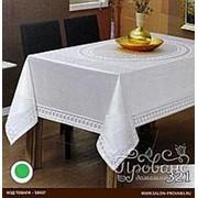Скатерть прямоугольная Efor JASMIN жаккард белый 160х220 фото