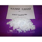 Калий едкий (гидроксид калия, поташ) фото