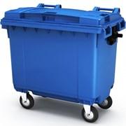 Пластиковый мусорный контейнер 660л фото