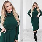 Платье женское зелёное с ангоры больших размеров (6 цветов) ТК/-02012 фото
