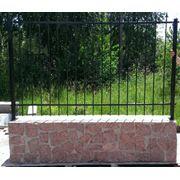 Бетонный заборный блок фото