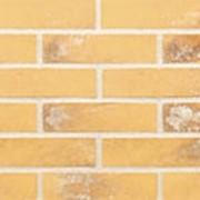 Угловая облицовочная плитка Lode LAIMA желтая с белым напылением шероховатая 120x250x65x10 фото