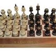 Классиеческие шахматы-нарды из дерева орех фото
