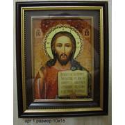 Иконы из янтаря под стеклом 1 фото