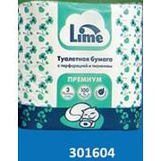 Туалетная бумага в рул. LIME 3-сл, 16м, белая, 4рул/уп фото