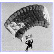 """Система парашютная """"СУРОЖ - УТ"""" для выполнения учебно-тренировочных и спортивных прыжков из самолетов и вертолетов на точность приземления ресурс - 500 применений фото"""