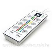 Сетевой фильтр, MONSTER Digital PowerCenter MDP 800, GreenPower, 8 розеток, интерфейс для телефона/сети 2шт. фото