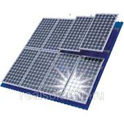 Комплект для крепления 3-х солнечных батарей на плоской или наклонной крыше фото