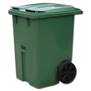 Пластиковые контейнеры на колесах с крышкой на 120 фото