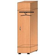 Одностворчатый гардеробный шкаф с полкой для обуви ШПО.001 фото