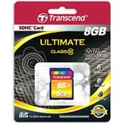 Карта памяти 8 Гб, SDHC Secure Digital flash card, класс 10 - Transcend фото