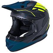 Шлем Full Face DH/BMX Zoka Mat Blk/Fluo Ylw 6отверстий Y/L 52-53см, черно-желто-синий, ABS, KALI фото