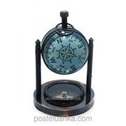 Часы настольные с компасом 10х7,5х7,5 см 28284 фото