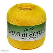 Пряжа FILO di SCOZIA №8 (желтый) фото