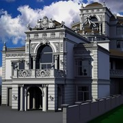 3d визуализация зданий повышенной сложности фото