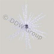 Декор Снежинка акрил. прозрачная с блеском фото